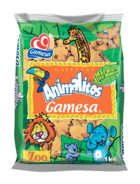 GAMESA ANIMALITOS KILO  6 UDS