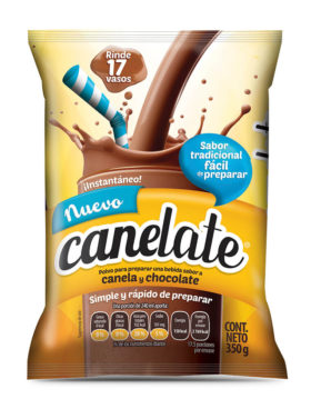 CANELATE CHOCOLATE 350 GR  8 UDS